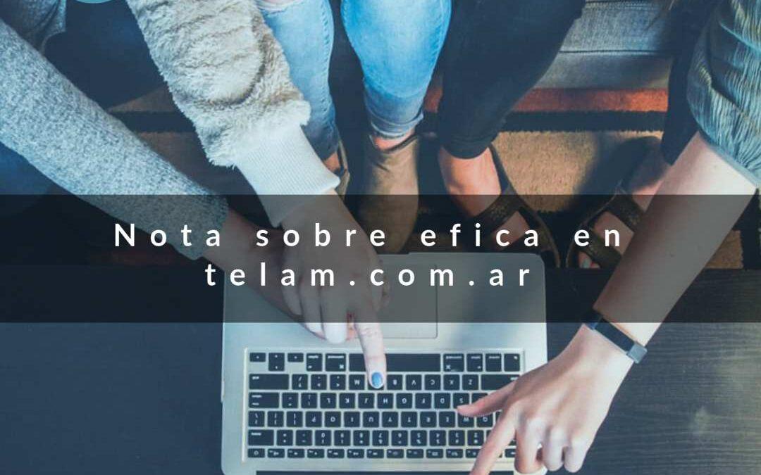 """Nota en Telam """"Lanzan por primera vez en formato digital la feria del calzado Efica, la más grande del sector"""""""