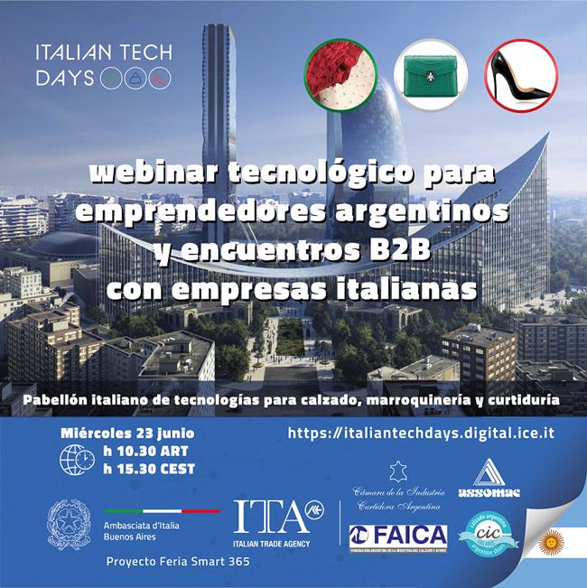 ITALIA – ARGENTINA: WEBINAR TECNOLOGICO Y RONDA DE NEGOCIOS